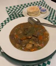 Guiness beef stew at O'Sheas Pub and Eatery