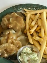 Hamburger Steak and Onions at O'Sheas Pub and Eatery
