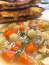 Soup and sandwich at O'Sheas Pub and Eatery