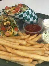 Taco wrap at O'Sheas Pub and Eatery