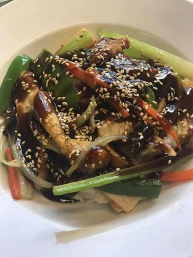 Teriyaki Chicken Stirfry at O'Sheas Pub and Eatery