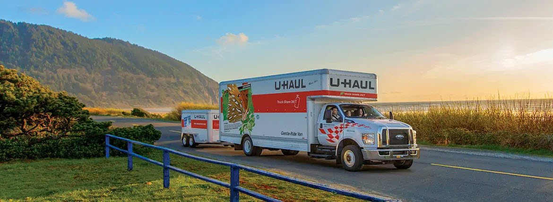 Uhaul truck and trailer